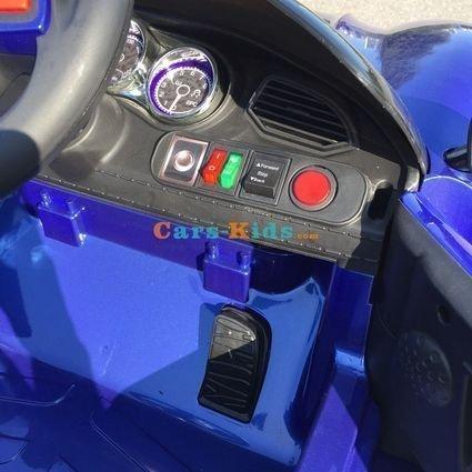 Электромобиль Porsche Sport М777МР синий (колеса резина, кресло кожа, пульт, музыка)